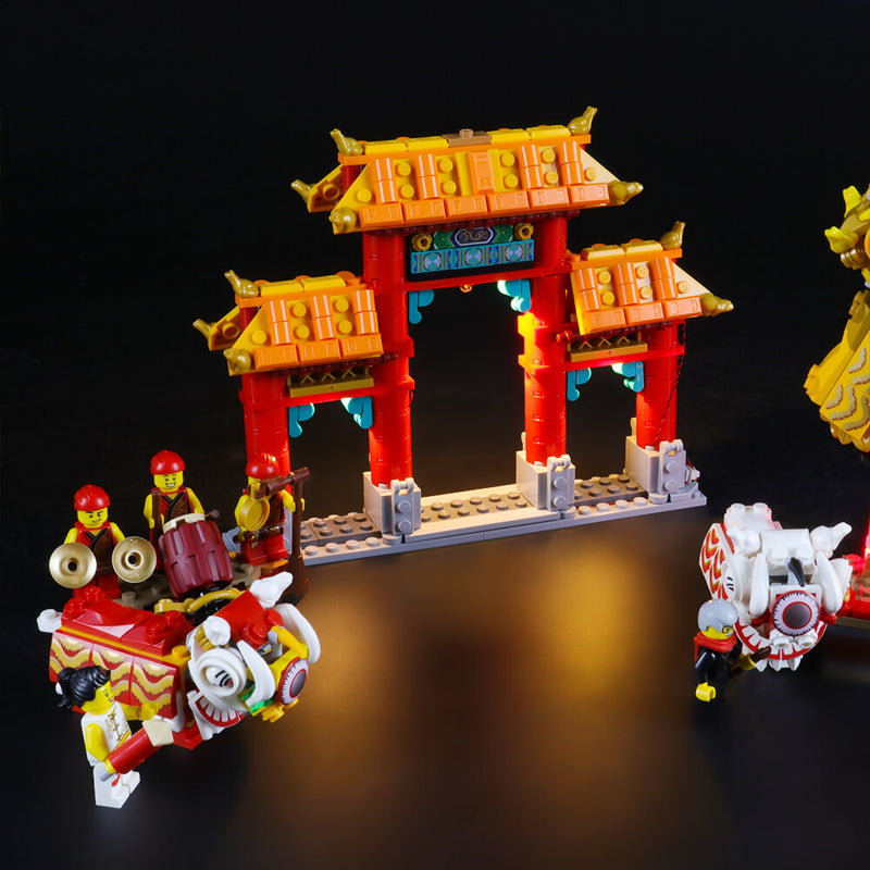 Lego Light Kit For Lion Dance 80104  BriksMax