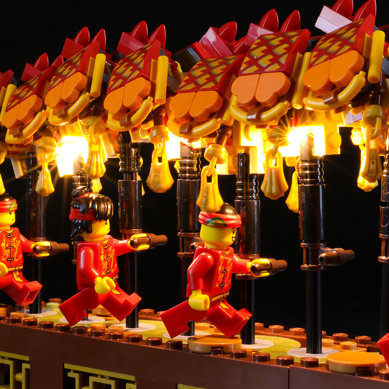 Lego Light Kit For Dragon Dance 80102  BriksMax