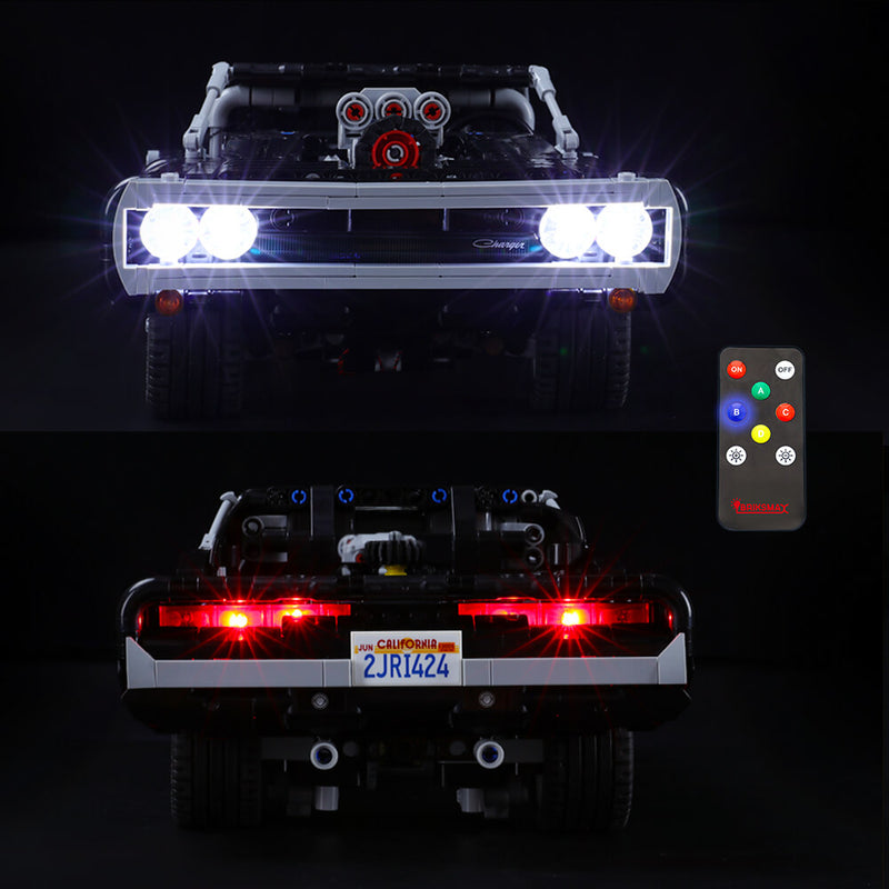 Lego Light kit For Dom's Dodge Charger 42111  BriksMax