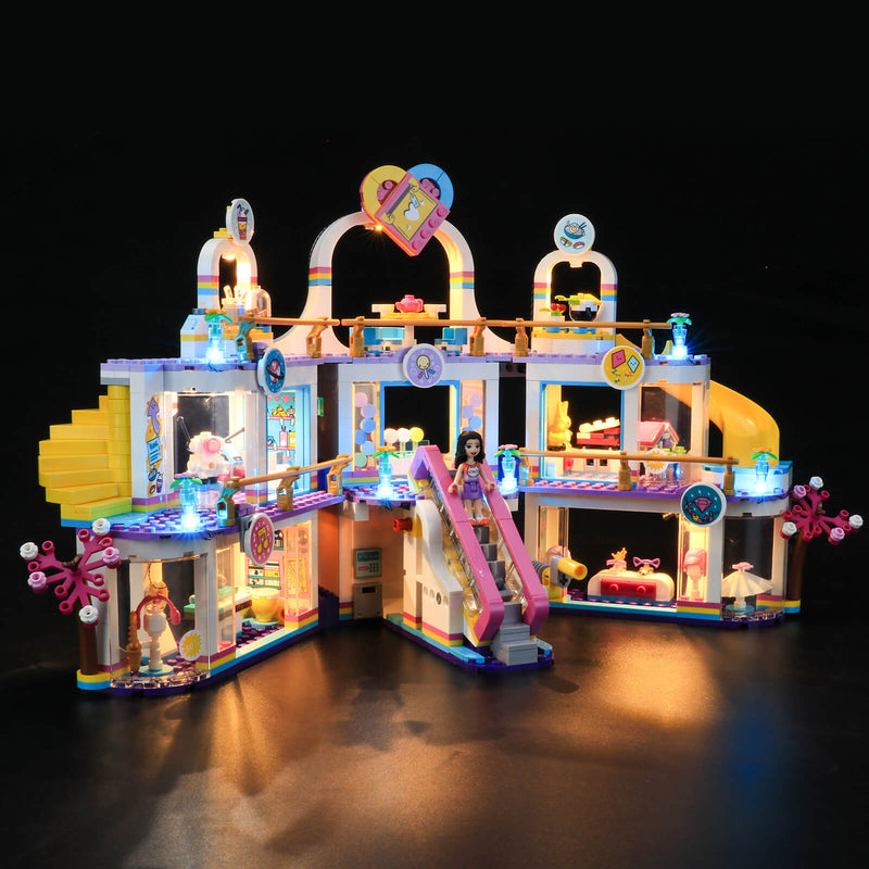 light up lego friends shopping mall 41450