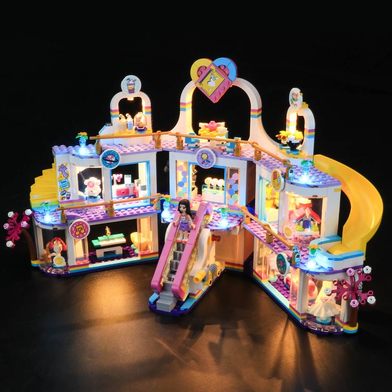 add led lights to lego friends heartlake mall