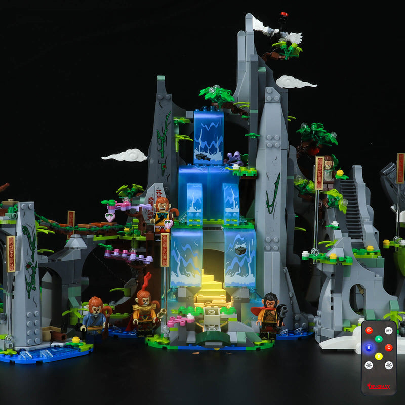 add led lights to lego flower fruit mountain