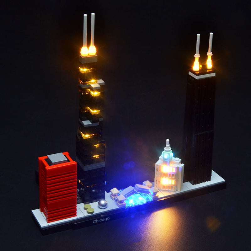 Lego Light Kit For Chicago 21033  BriksMax