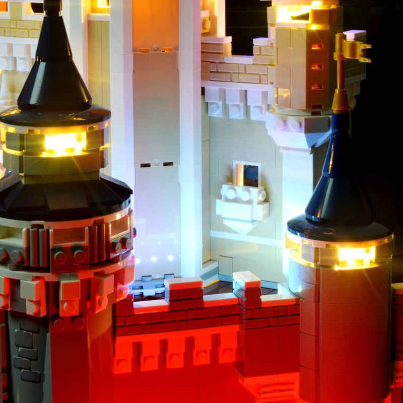 light up lego replica disney