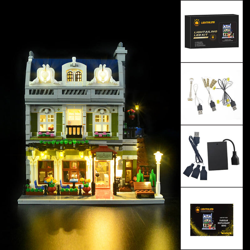 Lego Light Kit For Parisian Restaurant 10243  Lightailing