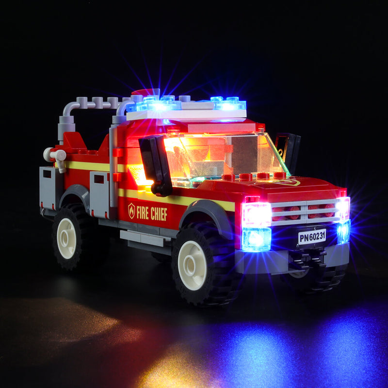 Lego Light Kit For Fire Chief Response Truck 60231  Lightailing