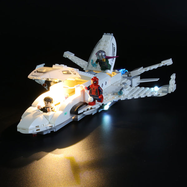 Light Kit For Stark Jet and the Drone Attack 76130