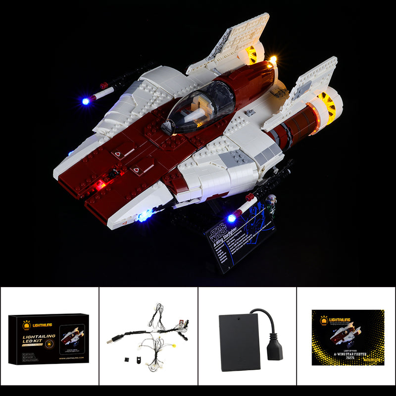 Lego Light kit For A-Wing Star Fighter 75275  Lightailing