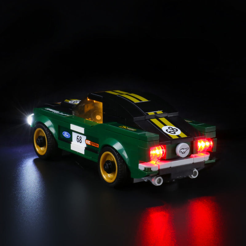 Lego Light Kit For 1968 Ford Mustang Fastback 75884  Lightailing