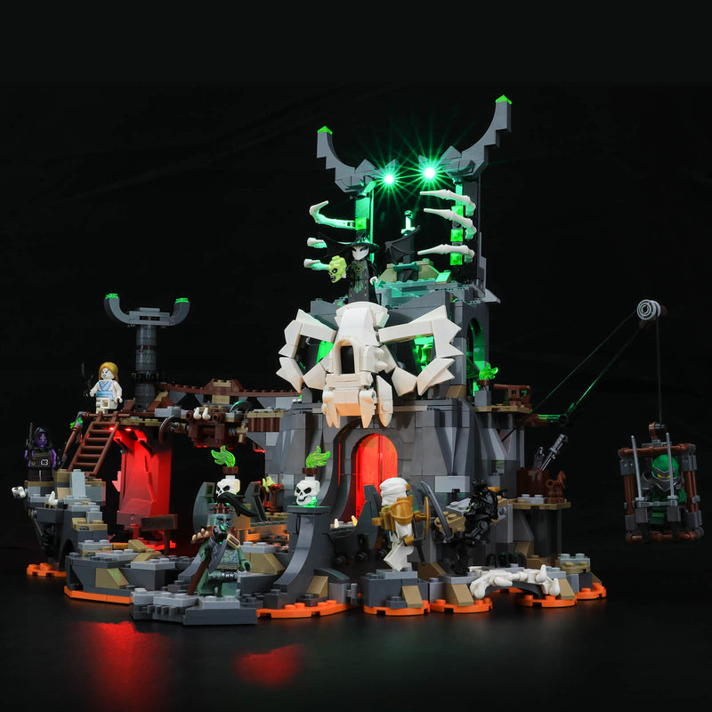 light up lego ninjago skull sorcerer dungeon
