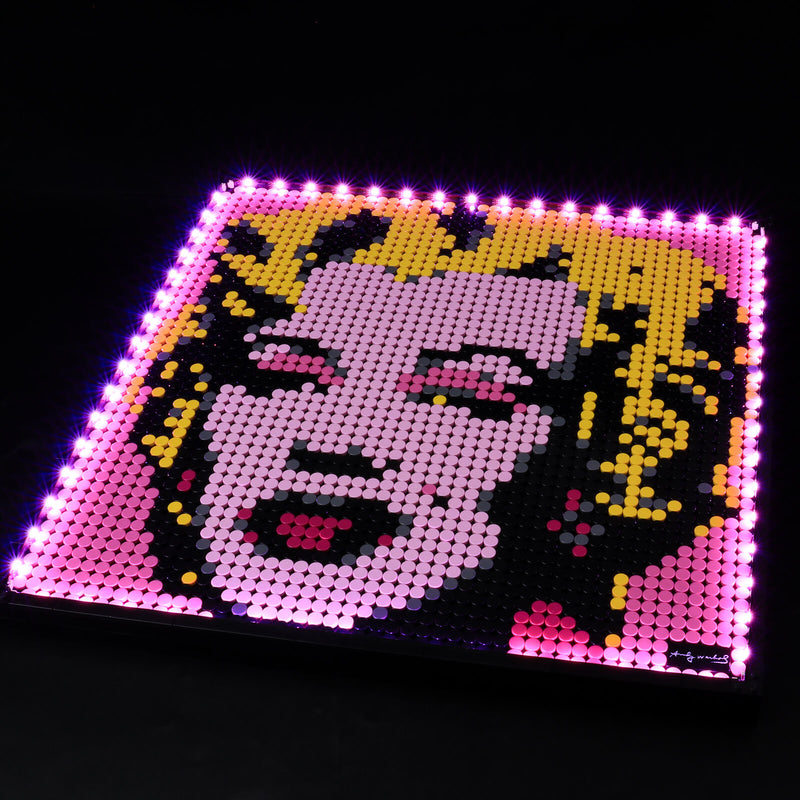 add lights to lego wall art series
