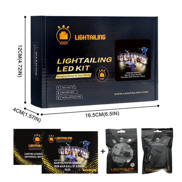 Light Kit For Iron Man Hall of Armor 76125