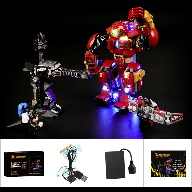 Lego Light Kit For The Hulkbuster Smash-Up 76104  Lightailing