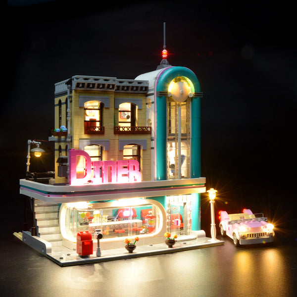 Lego Light Kit For Downtown Diner 10260  BriksMax