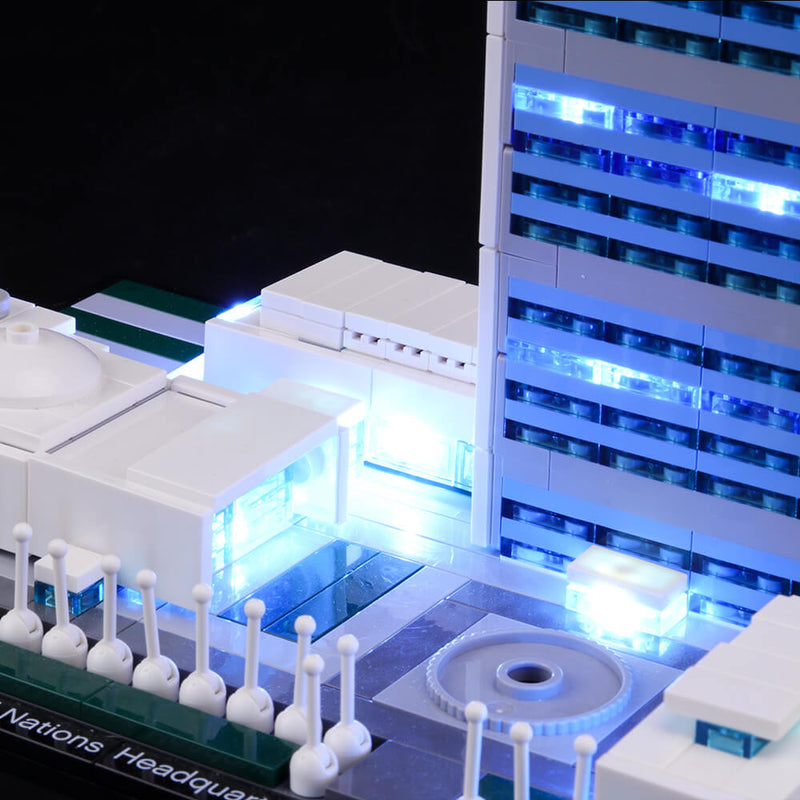Lego Light Kit For United Nations Headquarters 21018  BriksMax
