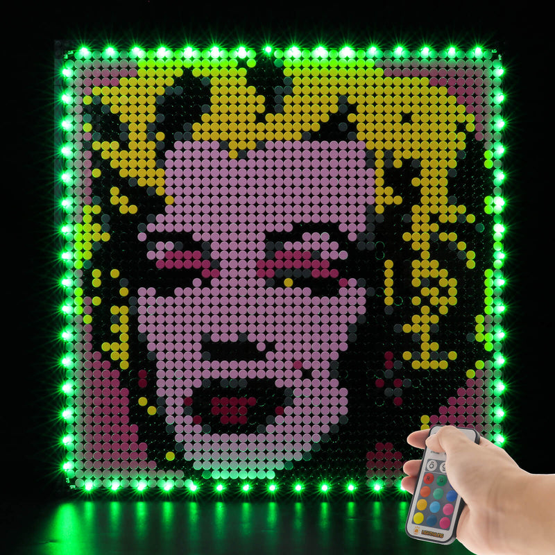 lego andy warhol marilyn monroe lights