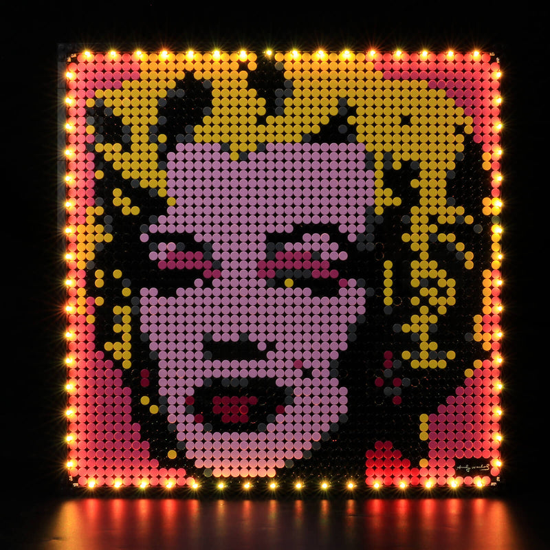 light up lego art