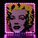light up lego wall art
