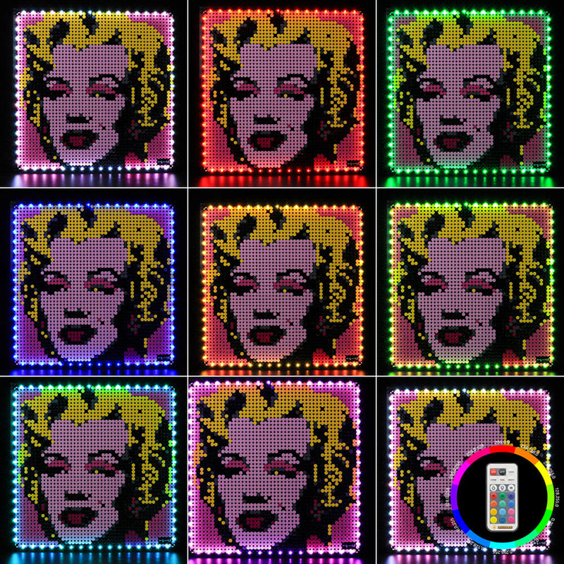 marilyn monroe lego lights