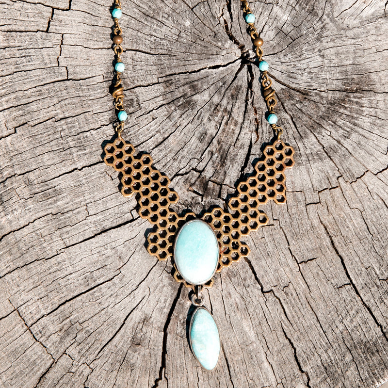 Amazonite Honey Queen Necklace