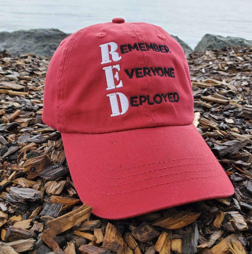 Remember Everyone Deployed Red Authentic Hat