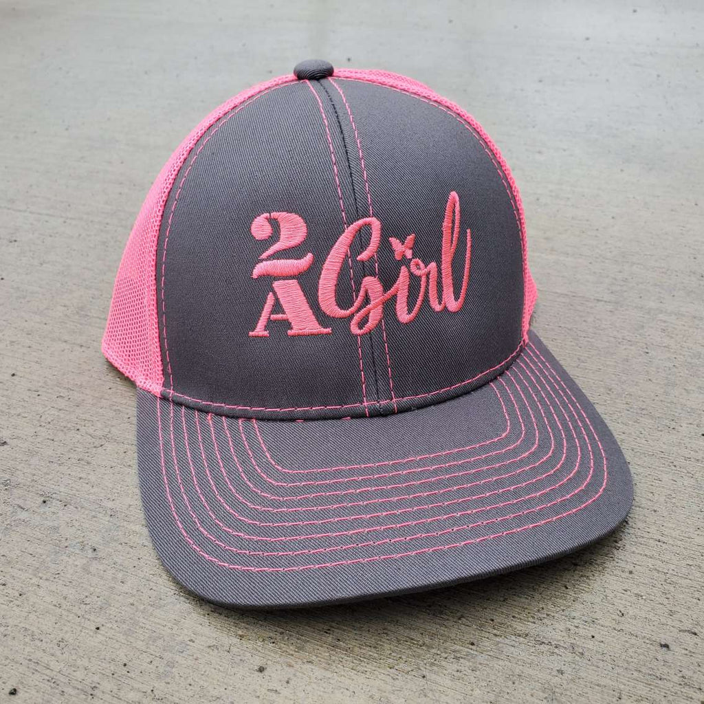 2A Girl Pink Mesh Authentic Hat