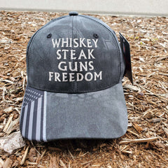 Whiskey Steak Guns Freedom Kryptek Hat