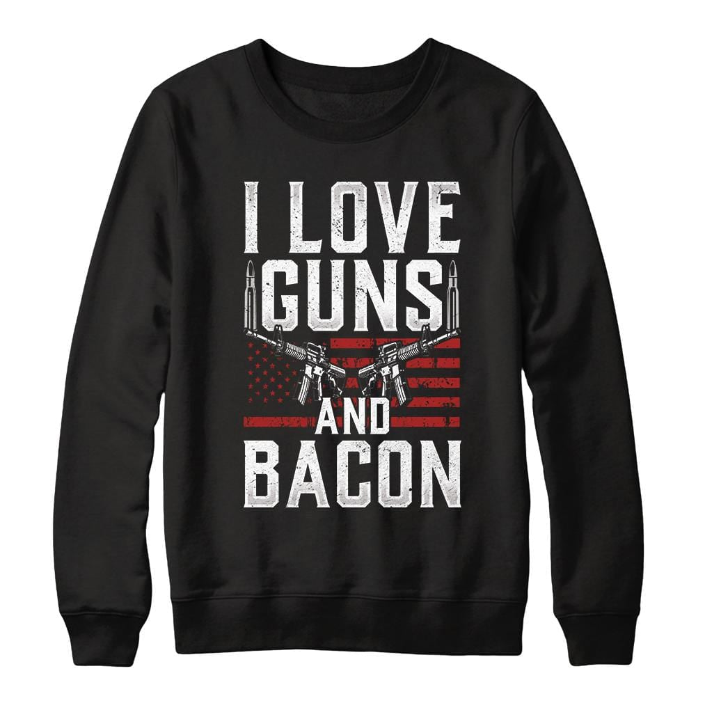 I Love Bacon 2nd Amendment Crewneck Sweatshirt