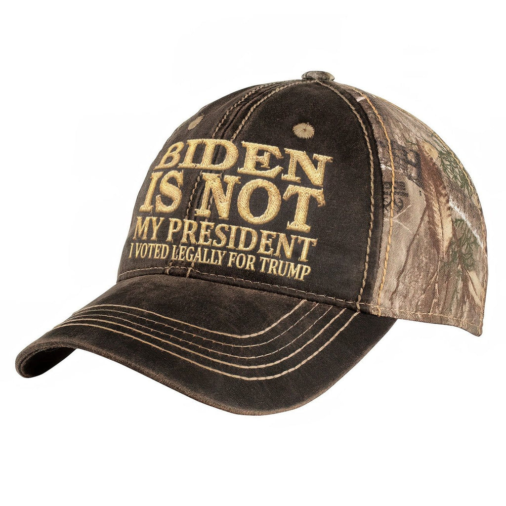 Biden Is Not My President Embroidered Hat