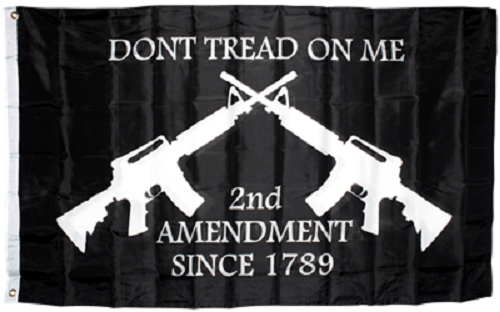 Dont Tread on Me Second Amendment Gun Flag 3x5 Flag WH2