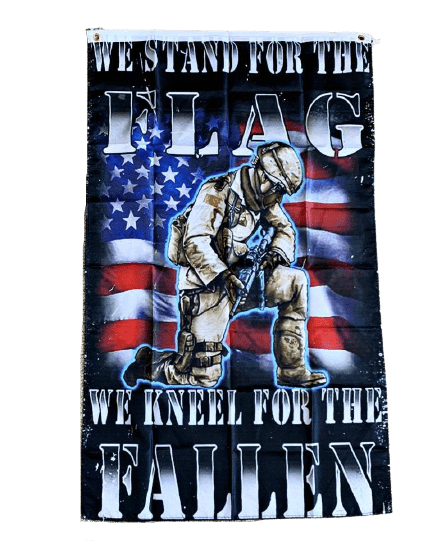We Stand For The Flag We Kneel For The Fallen Flag 3x5 WH2