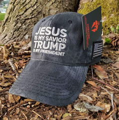 Jesus Is My Savior Trump Is My President Classic Grey Hat