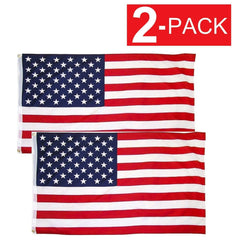 American Flag With Grommets US Flags (2 Pack) WH2