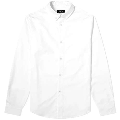 A.P.C. Chemise Button Down Oxford Blanc