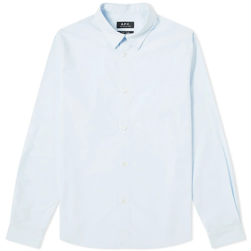 A.P.C. Chemise Casual Popeline Bleu clair