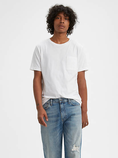 Levi's® Made & Crafted® T-shirt Pocket Blanc