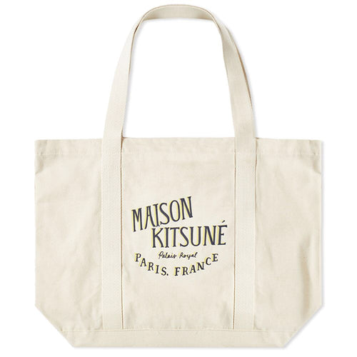 Maison Kitsuné Sac Shopping Bag Palais Royal Ecru