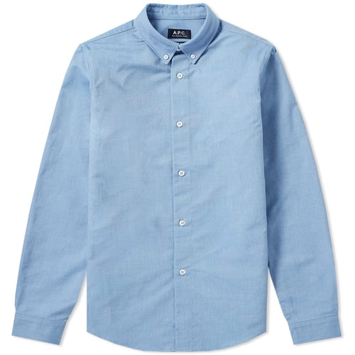 A.P.C. Chemise Button Down Oxford Bleu