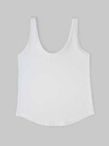 ecru organic cotton vest top