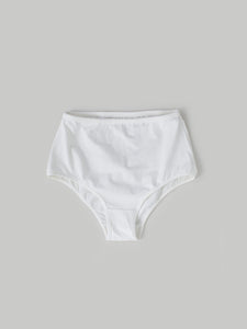 ecru organic cotton high waist knicker