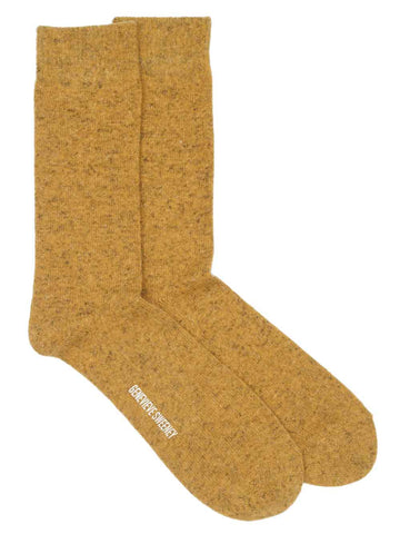 mustard yellow wool linen blend socks