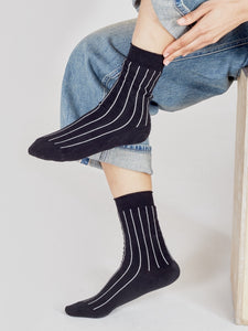 black stripe socks pack
