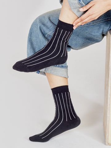 I AND ME black stripe socks pack