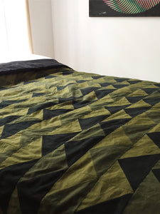 hand stitched military quilt