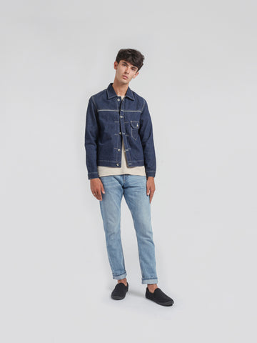I AND ME lightweight selvedge shacket