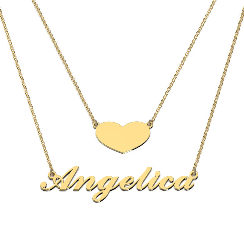 Love heart name necklace