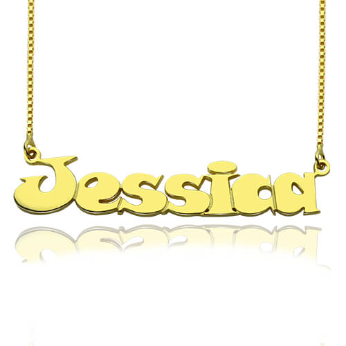 Over Children's Name Necklace