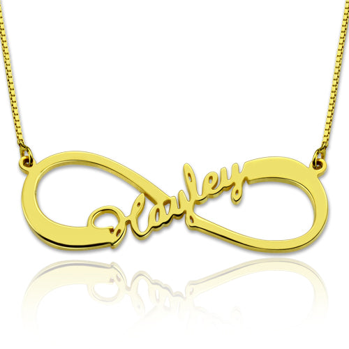 Infinity Middle Name Necklace Gold Plated
