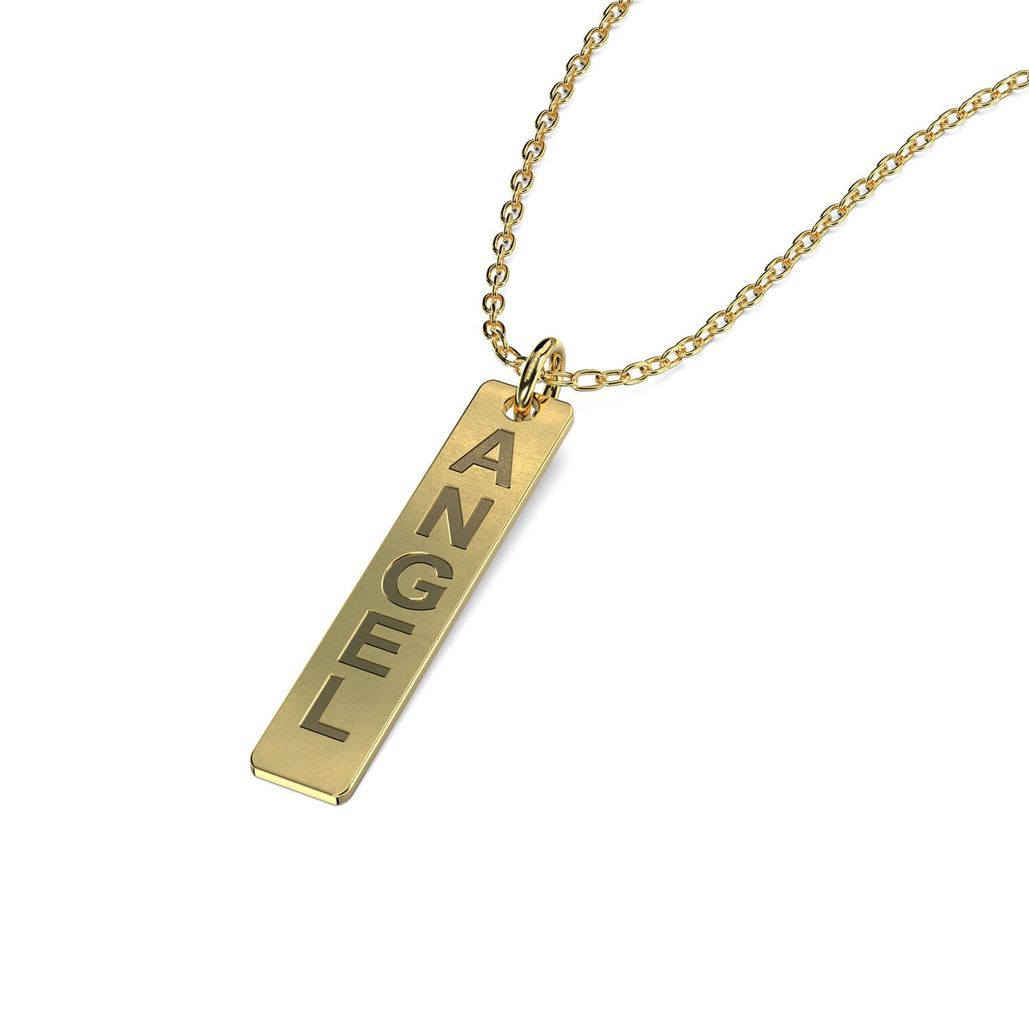 Vertical Bar Engraving Name Necklace