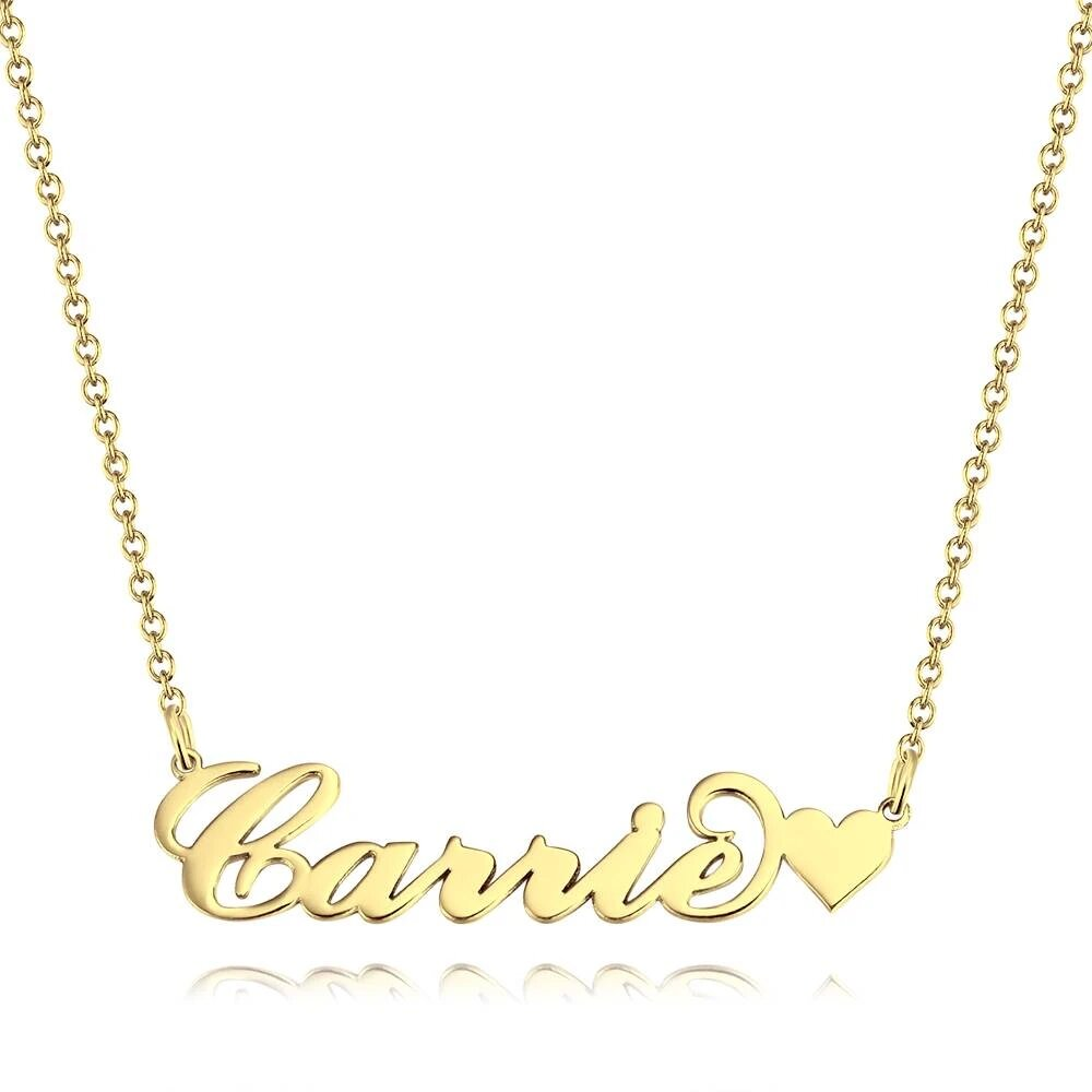 """Heart Carrie"" Name Necklace"
